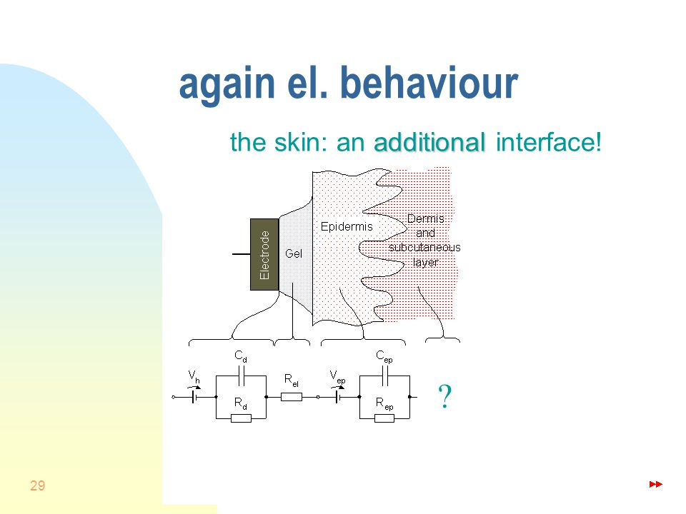 29 again el. behaviour additional the skin: an additional interface!