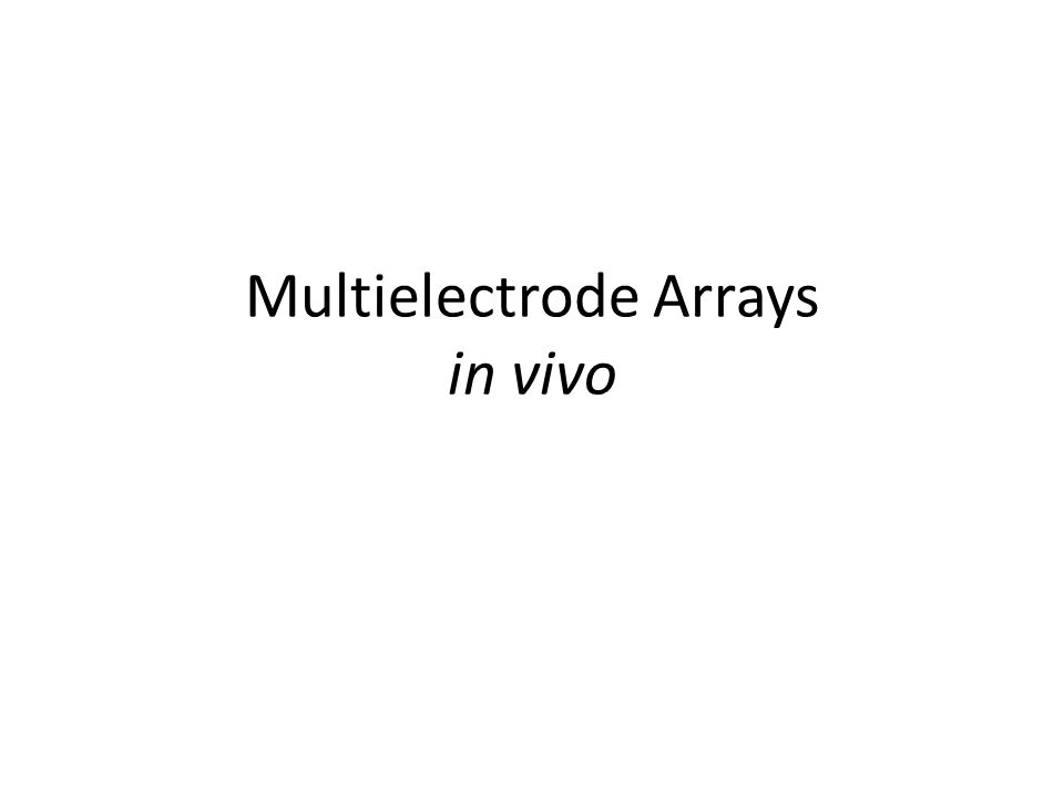 Multielectrode Arrays in vivo