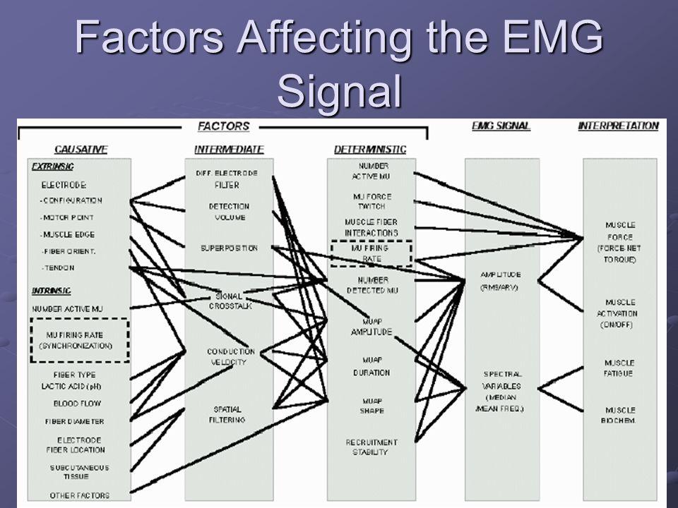 Factors Affecting the EMG Signal