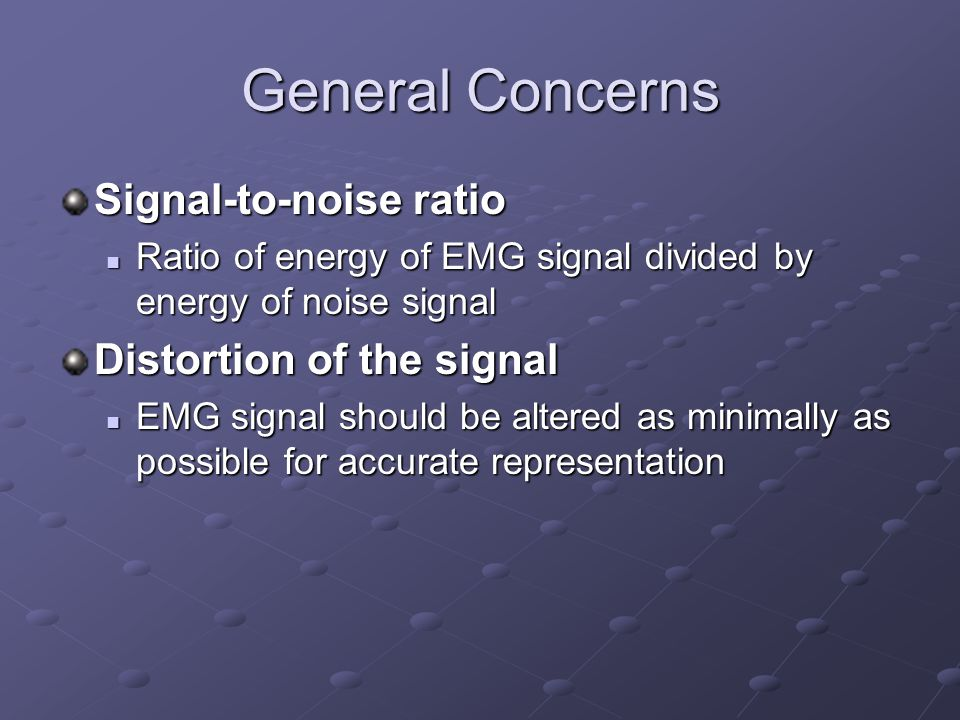 Differential Amplification Ambient (electromagnetic) noise is constant System subtracts two signals Resultant difference is amplified Double differential technique