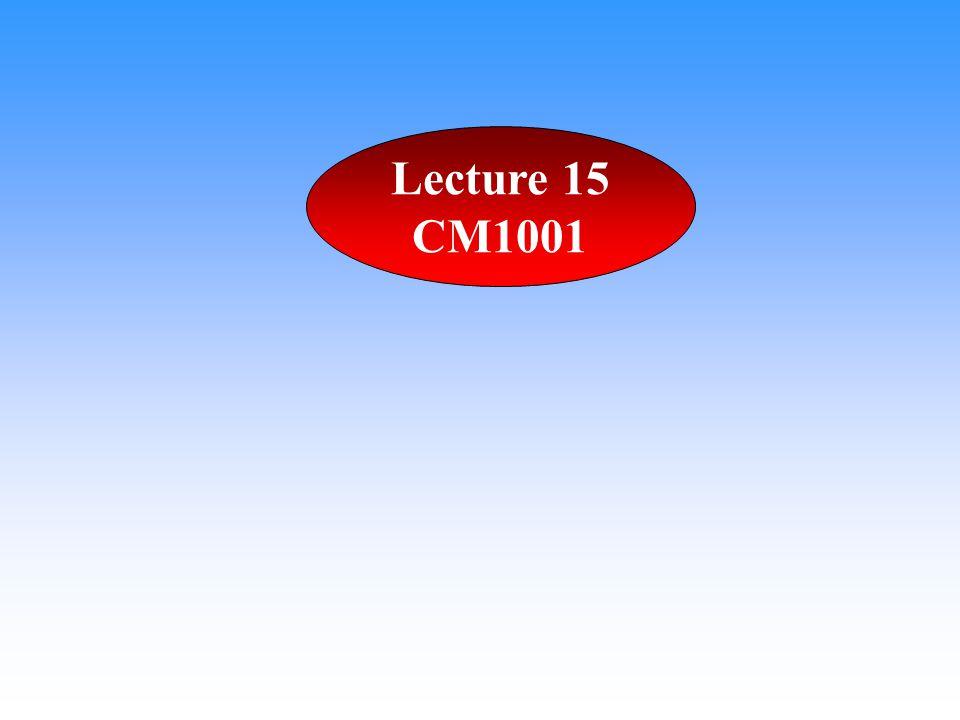 Lecture 15 CM1001