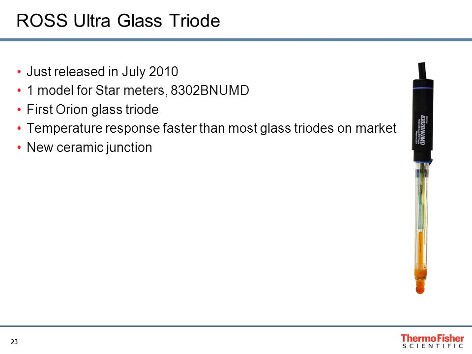 23 ROSS Ultra Glass Triode Just released in July 2010 1 model for Star meters, 8302BNUMD First Orion glass triode Temperature response faster than mos