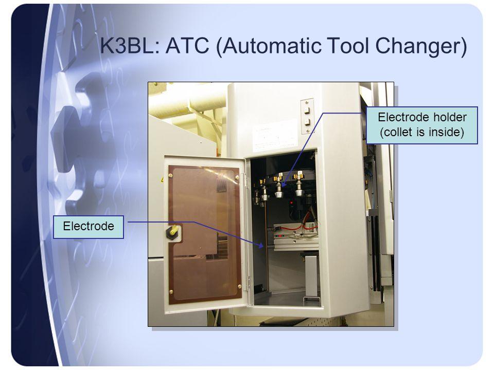 K3BL: ATC (Automatic Tool Changer) Electrode Electrode holder (collet is inside)