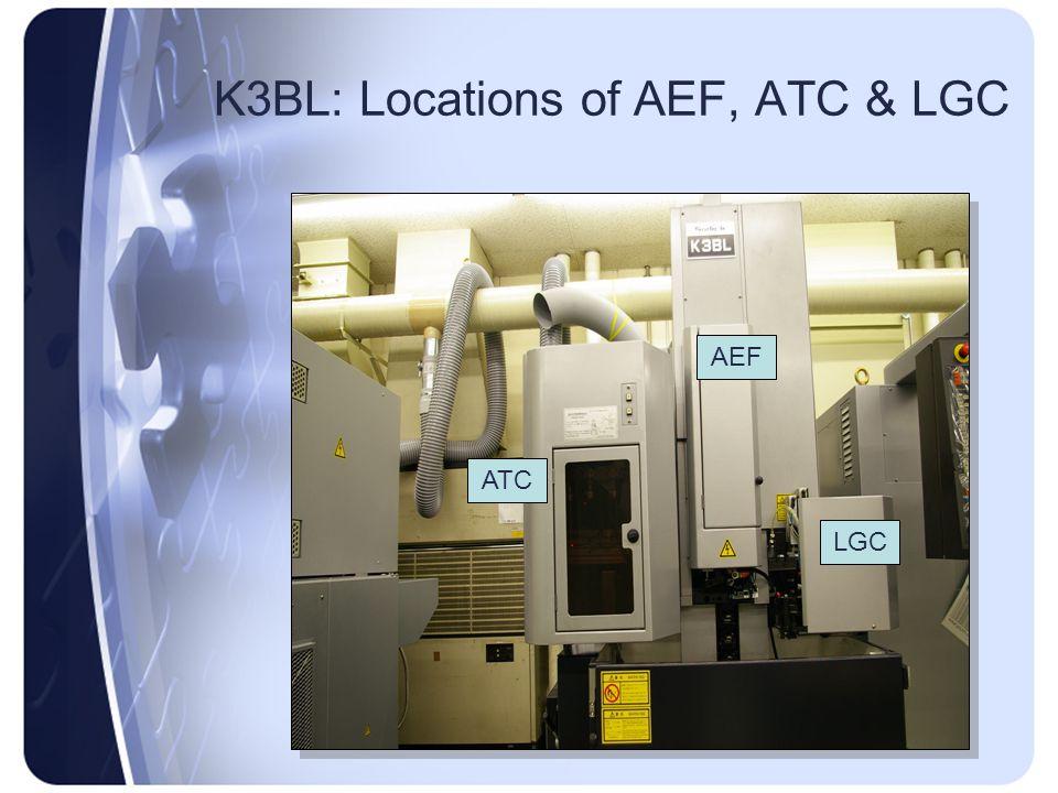 K3BL: Locations of AEF, ATC & LGC AEF ATC LGC