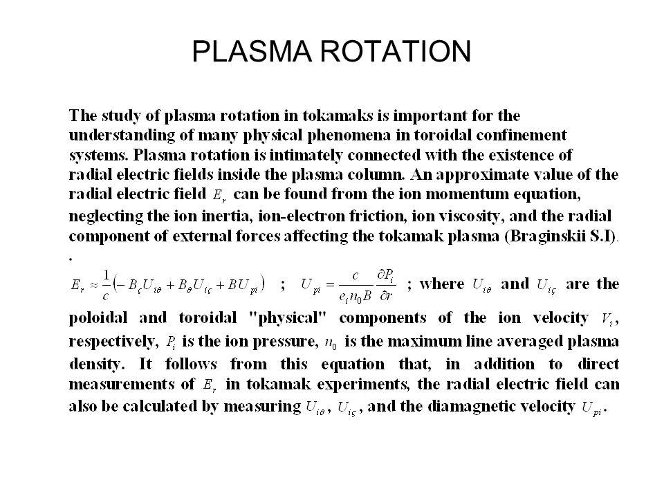 PLASMA ROTATION