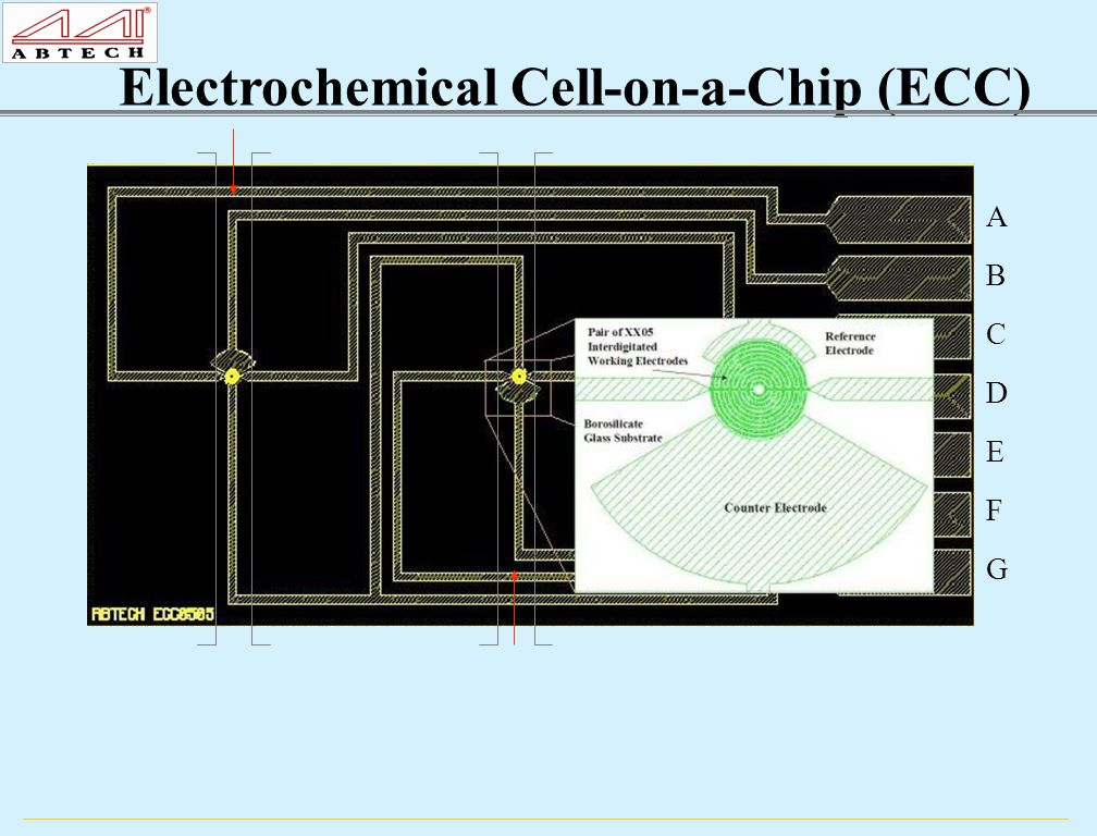 A B C D E F G Electrochemical Cell-on-a-Chip (ECC)