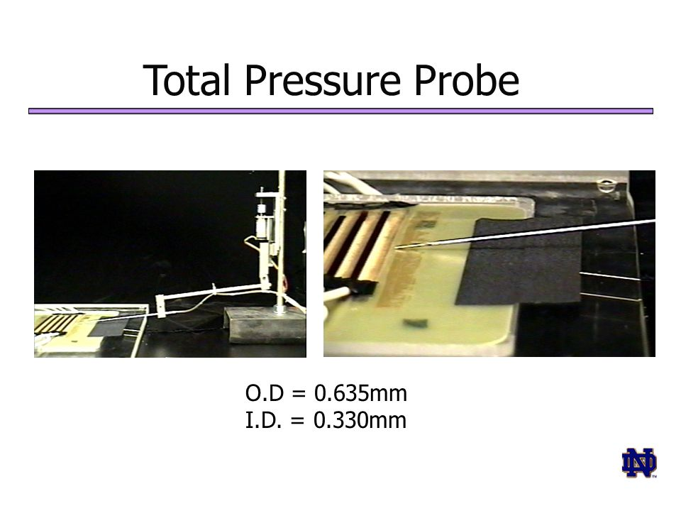 Total Pressure Probe O.D = 0.635mm I.D. = 0.330mm