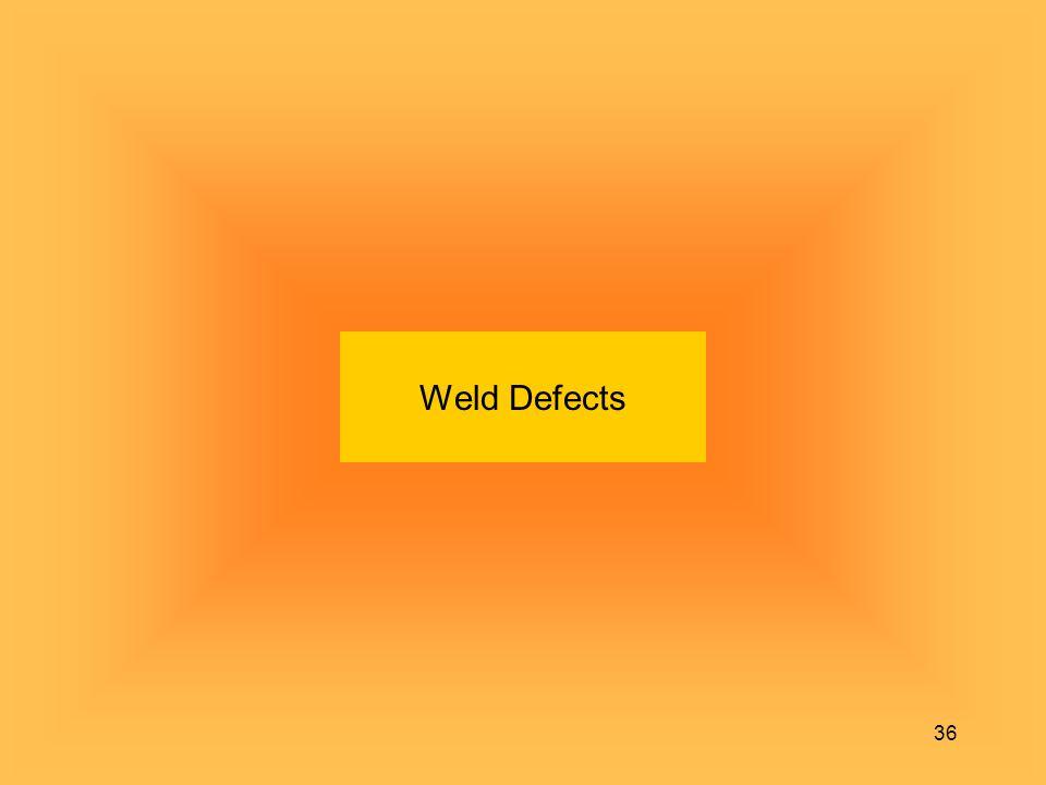 36 Weld Defects