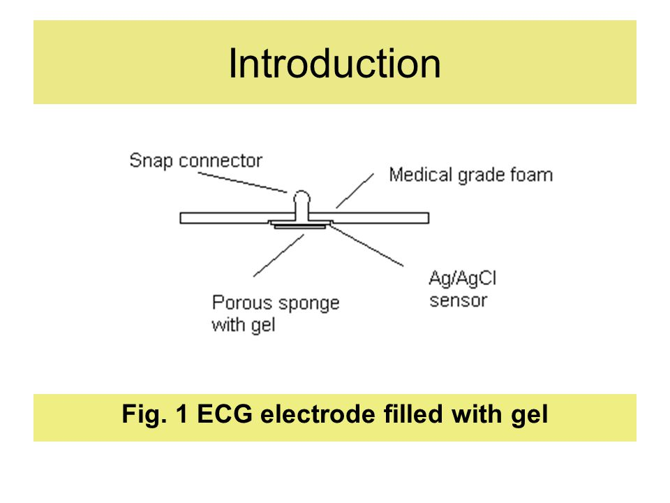 Introduction Fig. 1 ECG electrode filled with gel