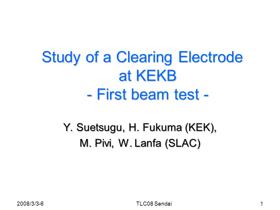 Background Clearing Electrode = A possible solution to suppress electron cloud in magnets.