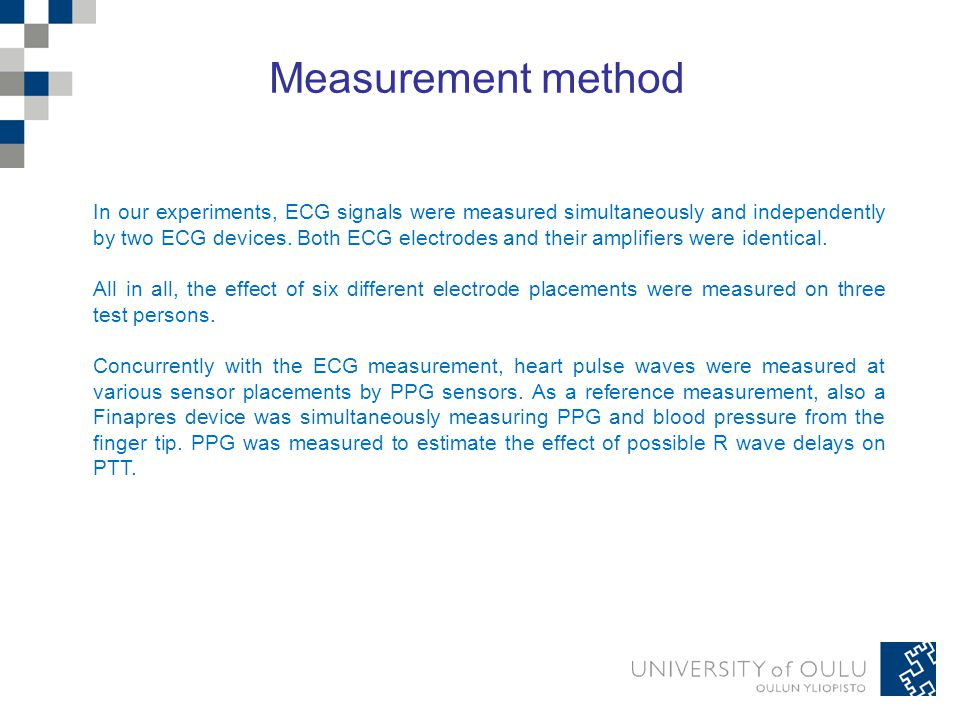 To verify the accuracy of our ECG measurements, a verification measurement was initially conducted on every person.