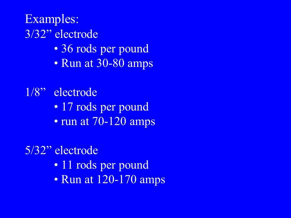 Example:E7018 8 }current, penetration, flux, etc. numbers range 0 - 8 D.