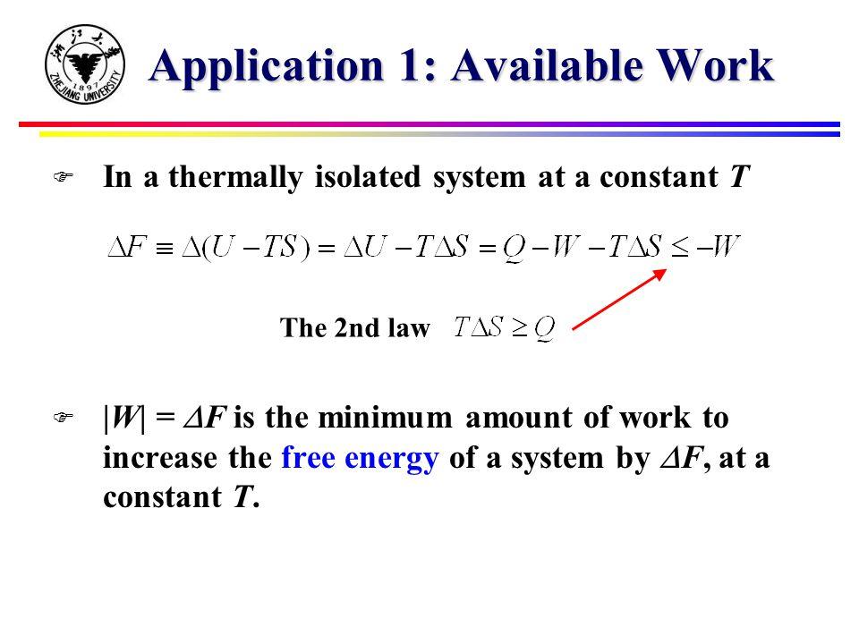 Introducing Free Energy F Introduce free energy F = U - TS Maxwell relation