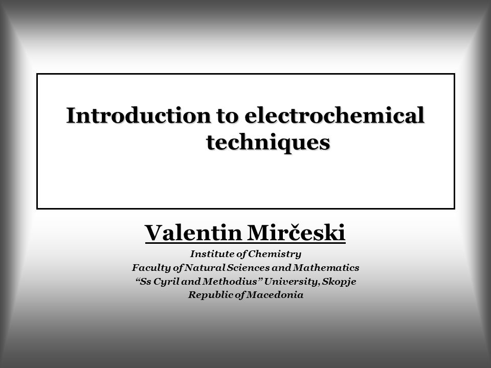 Electrochemistry: basic terms Electrochemistry is interdisciplinary science dealing with the interrelation between the chemical and electrical phenomena.