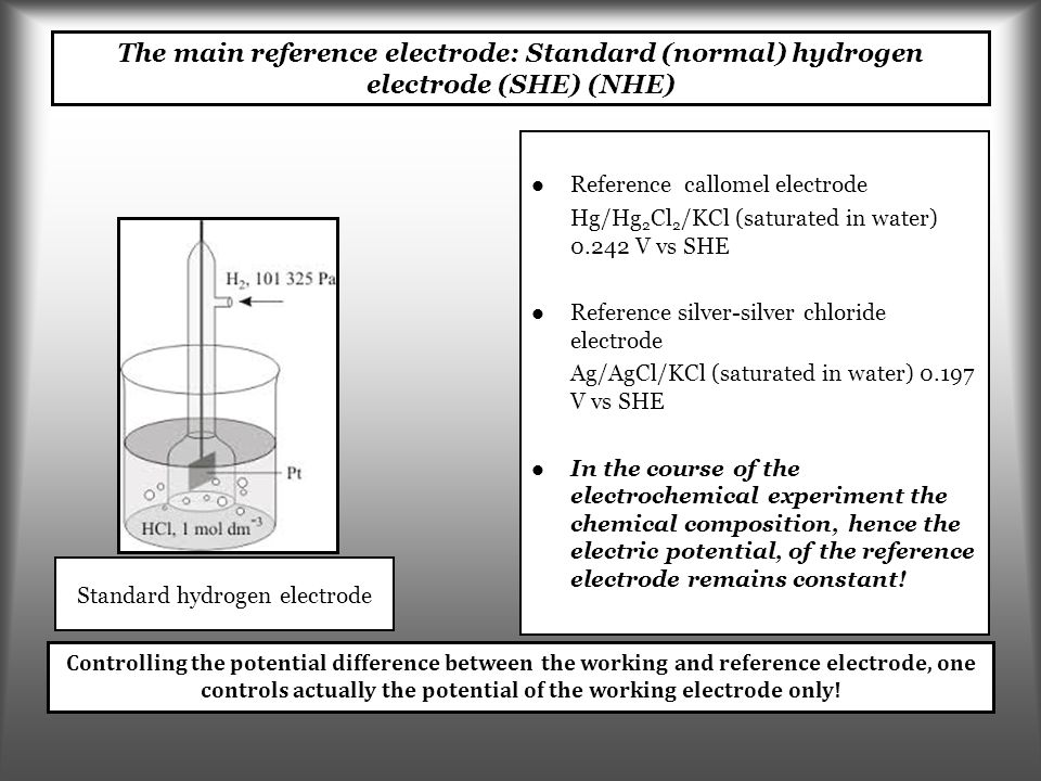   Reduction   Reduction current ( – )   Oxidation   Oxidation current ( + )   Standard redox potential E , which is related to the standard Gibbs energy Synonyms: standard electrode potential; standard reduction potential.