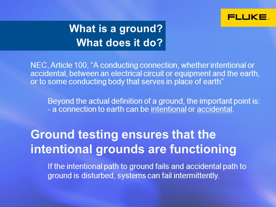 What is ground.