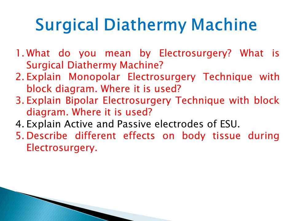  Electrosurgery is a simple method of making surgical incisions, controlling bleeding and destroying unwanted tissue cells by the use of a high frequency electrosurgical current .