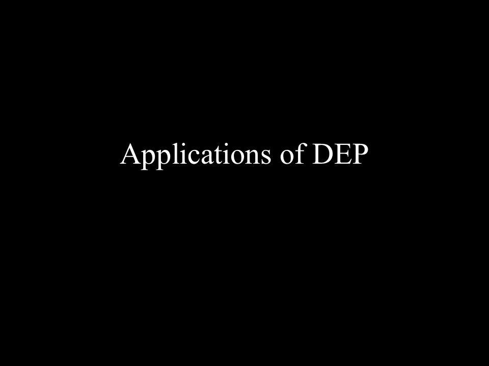 Applications of DEP