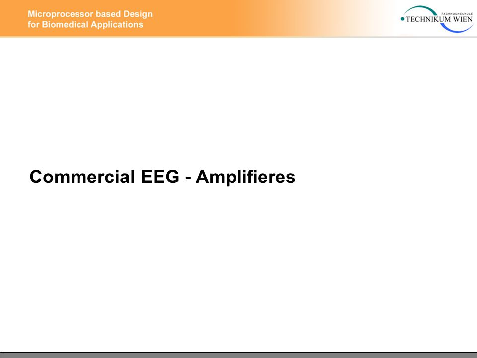 Commercial EEG - Amplifieres