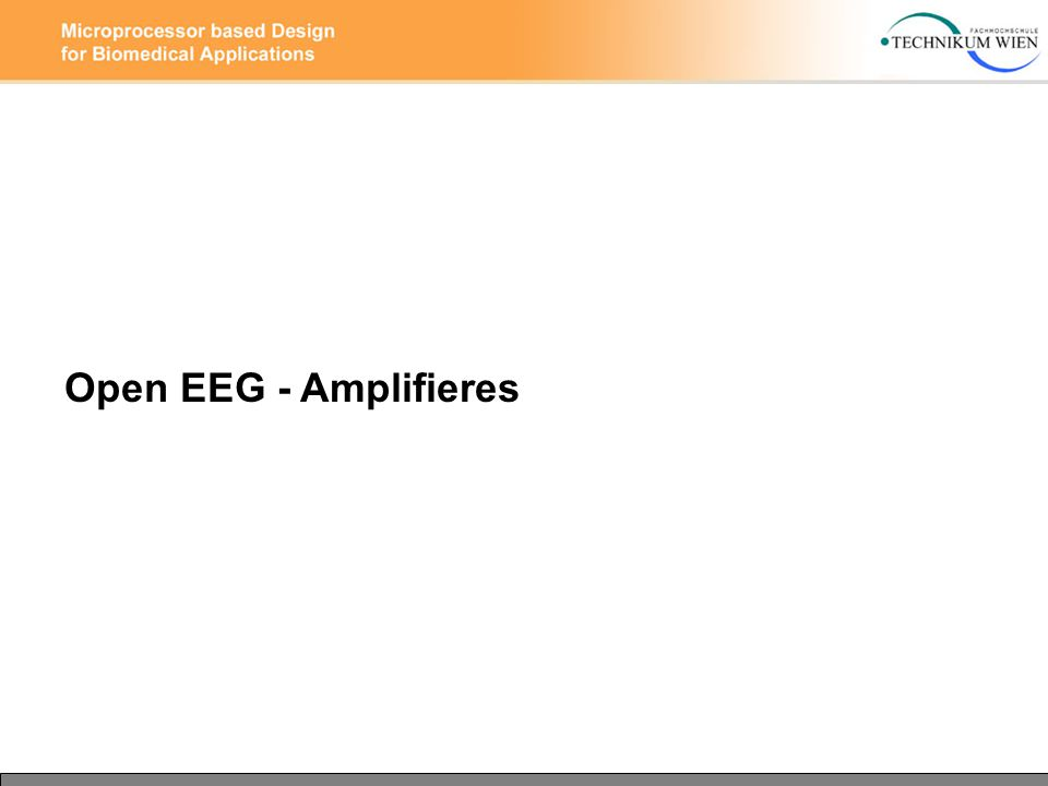 Open EEG - Amplifieres