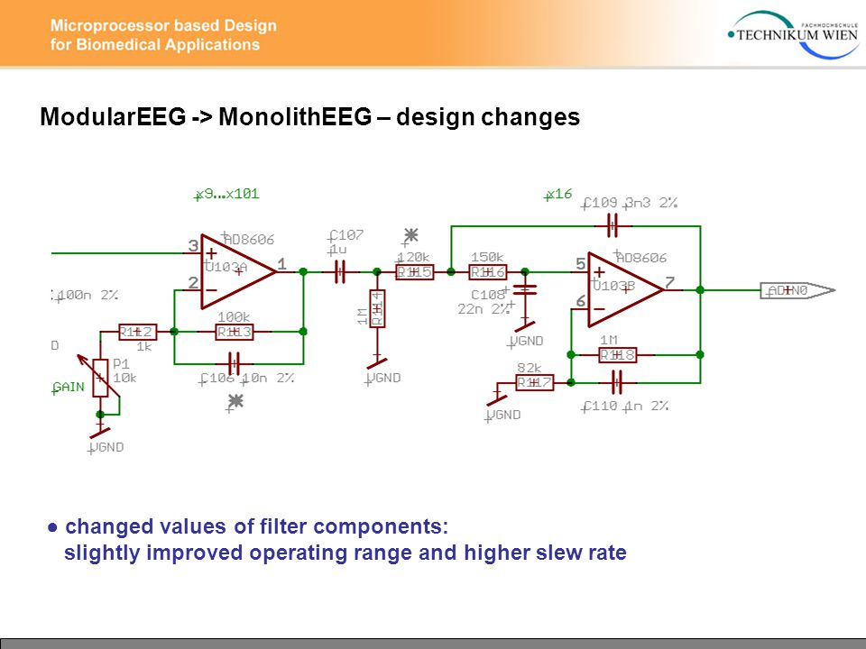● changed values of filter components: slightly improved operating range and higher slew rate ModularEEG -> MonolithEEG – design changes