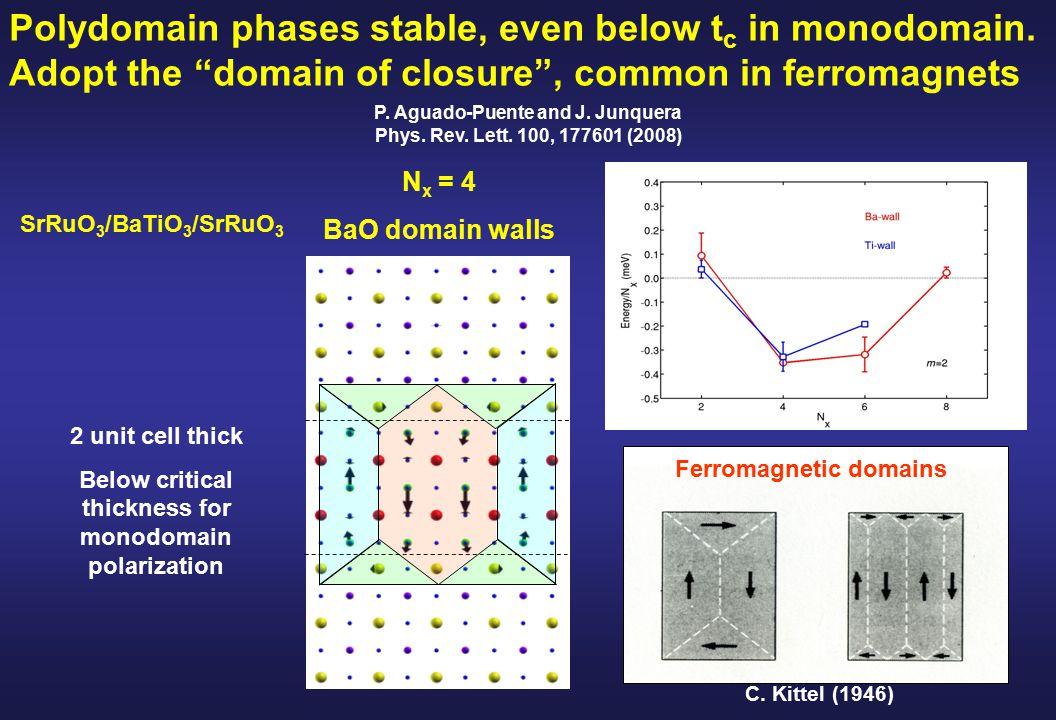 N x = 4 BaO domain walls C.