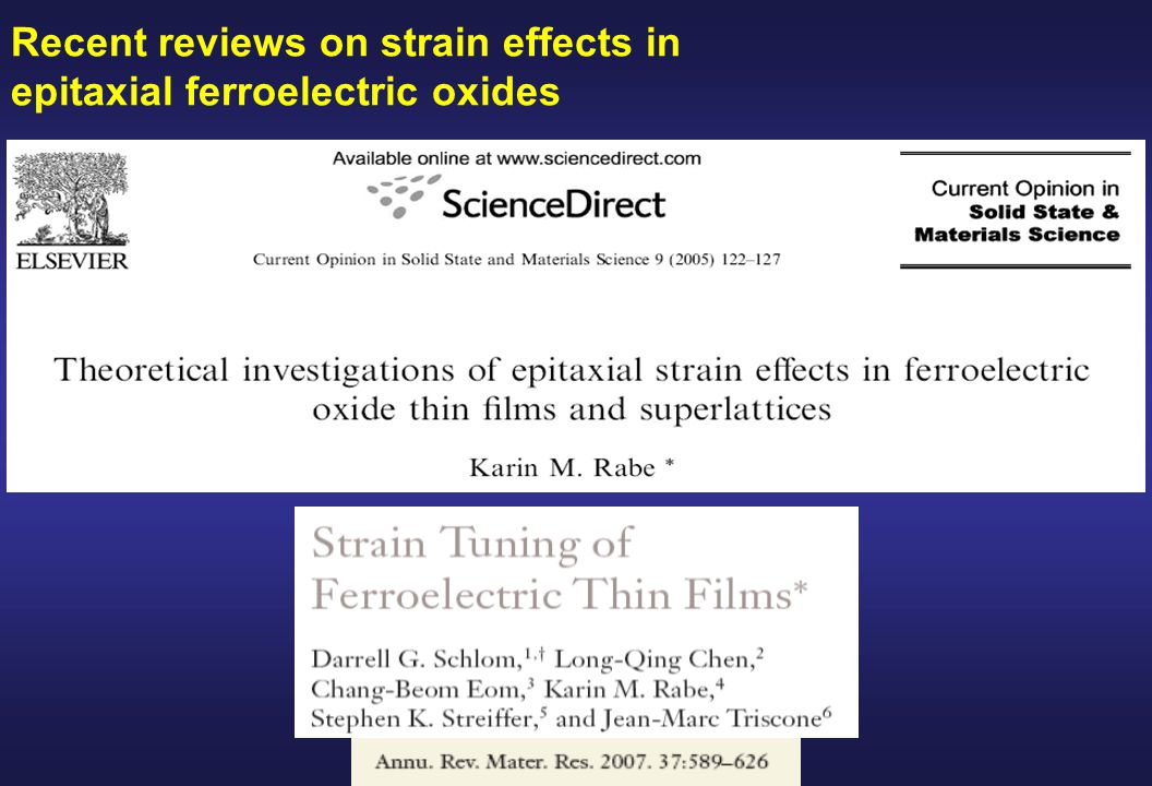 Recent reviews on strain effects in epitaxial ferroelectric oxides
