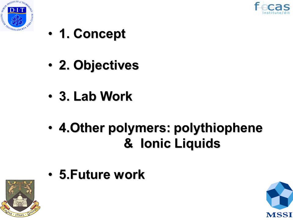 1. Concept1. Concept 2. Objectives2. Objectives 3.