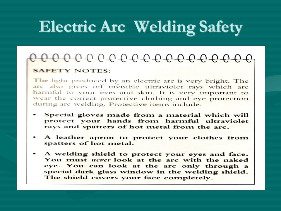 Electric Arc Welding Safety Pg 370Pg 370