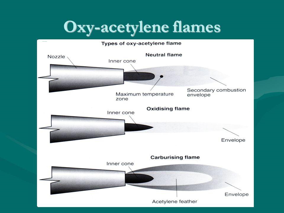 Oxy-acetylene flames