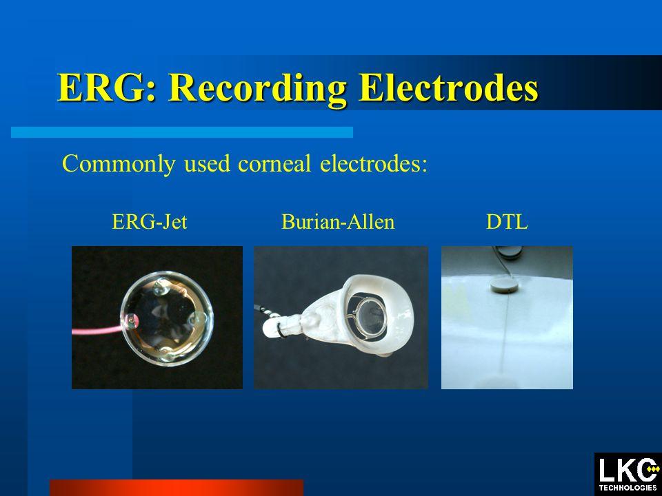 ERG: Recording Electrodes ERG-Jet Burian-Allen DTL Commonly used corneal electrodes: