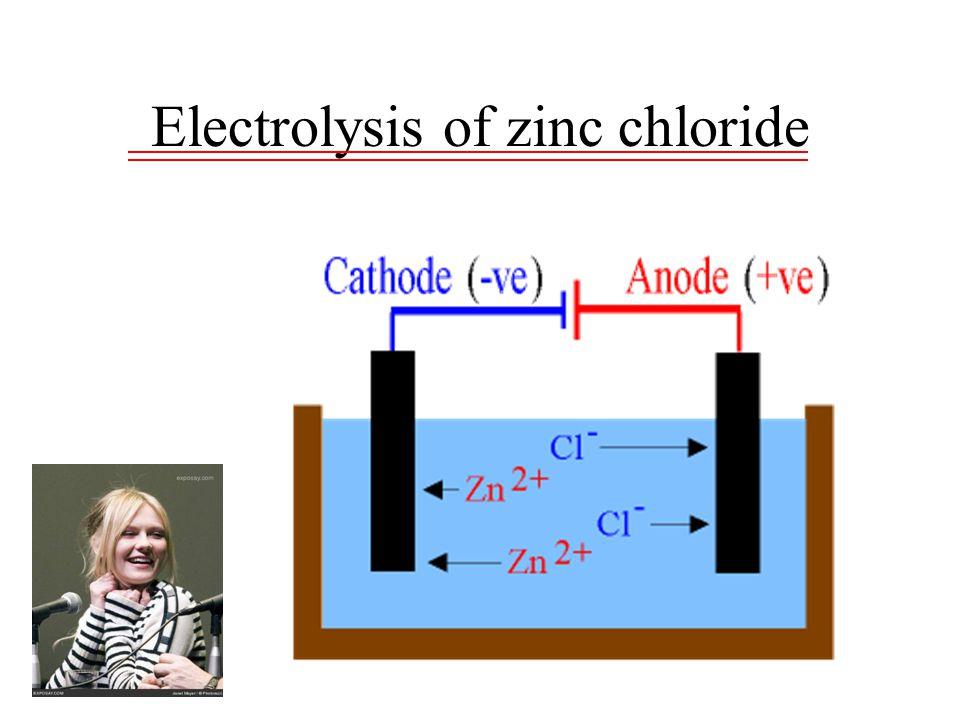 Electrolysis of zinc chloride