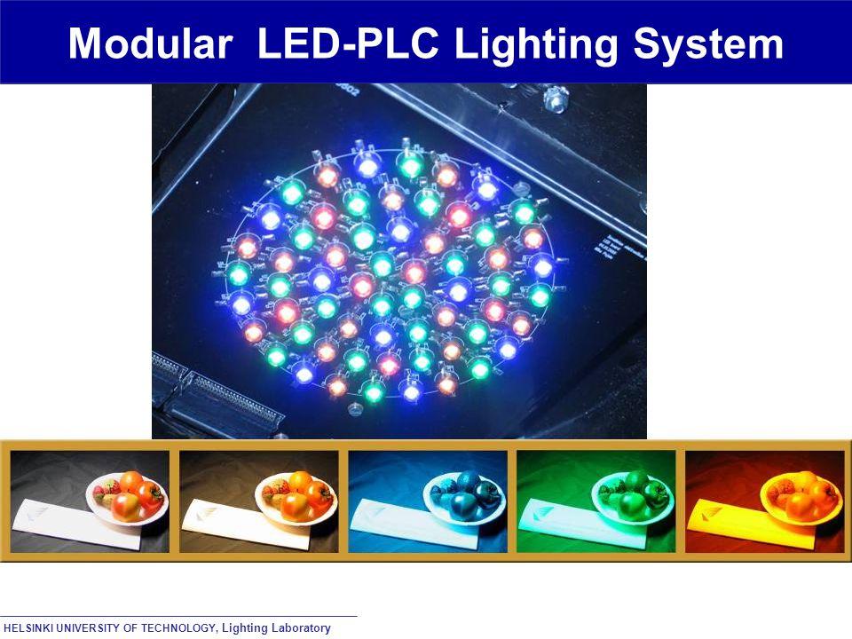 HELSINKI UNIVERSITY OF TECHNOLOGY, Lighting Laboratory Modular LED-PLC Lighting System