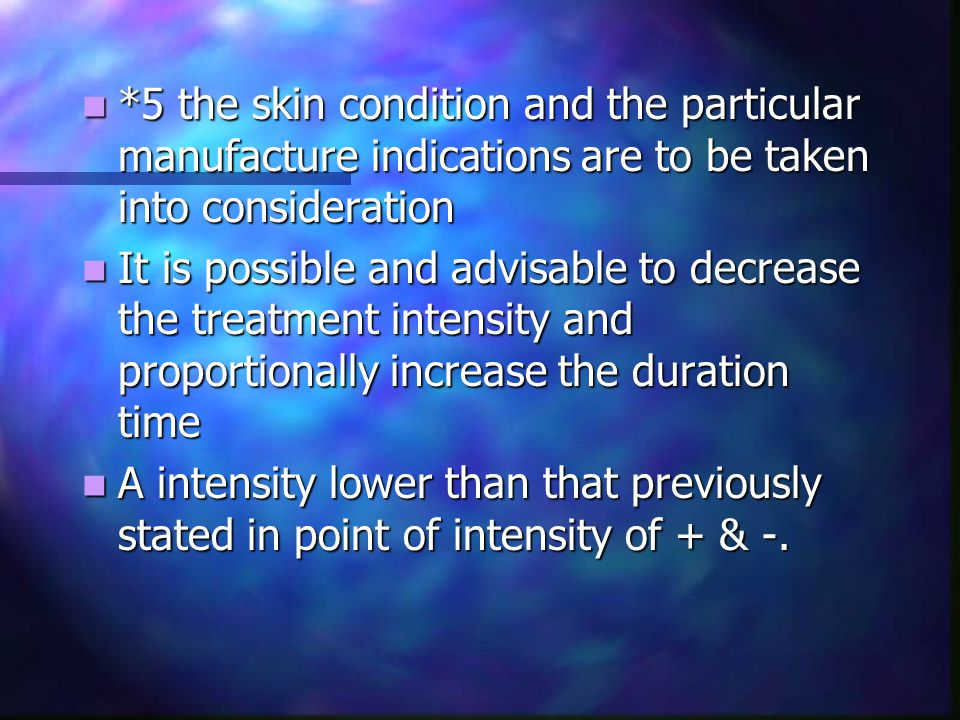 *5 the skin condition and the particular manufacture indications are to be taken into consideration *5 the skin condition and the particular manufactu