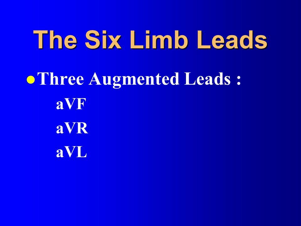 The Six Limb Leads l Three Augmented Leads : aVF aVR aVL