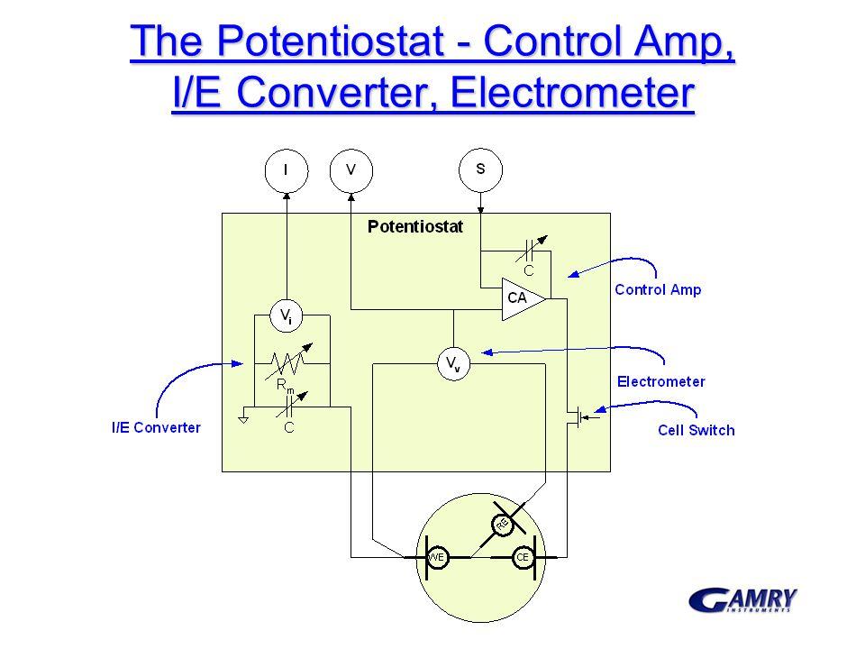 The Potentiostat - Control Amp, I/E Converter, Electrometer