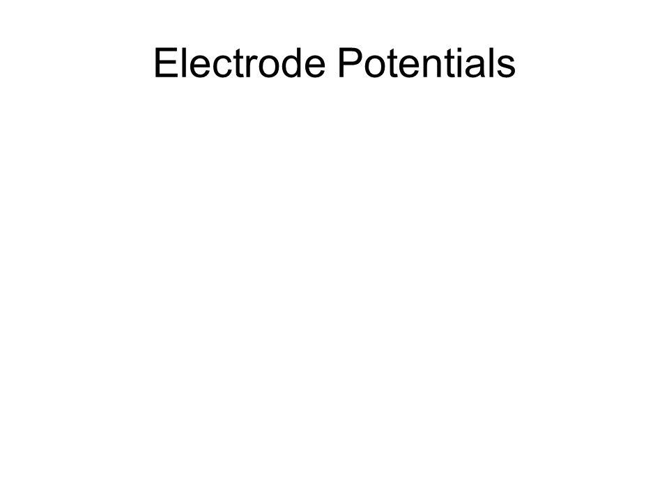Electrode Potentials