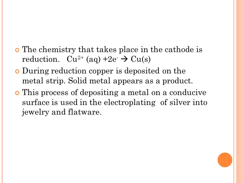 A NODE AND OXIDATION An anode is an electrode at which electrons are generated.