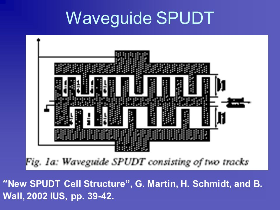 "Resonant SPUDT (RSPUDT) "" A New Concept in SPUDT Design: the RSPUDT (Resonant SPUDT)"", P. Ventura, M. Solal, P. Dufilie, J.M. Hode, and F., Roux. IUS"