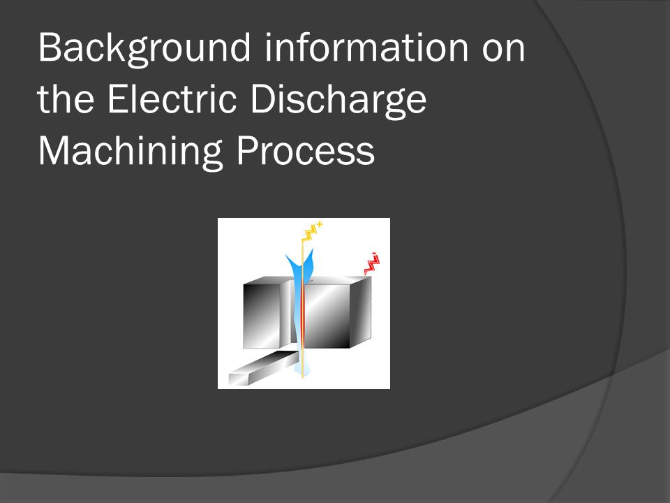 Background information on the Electric Discharge Machining Process