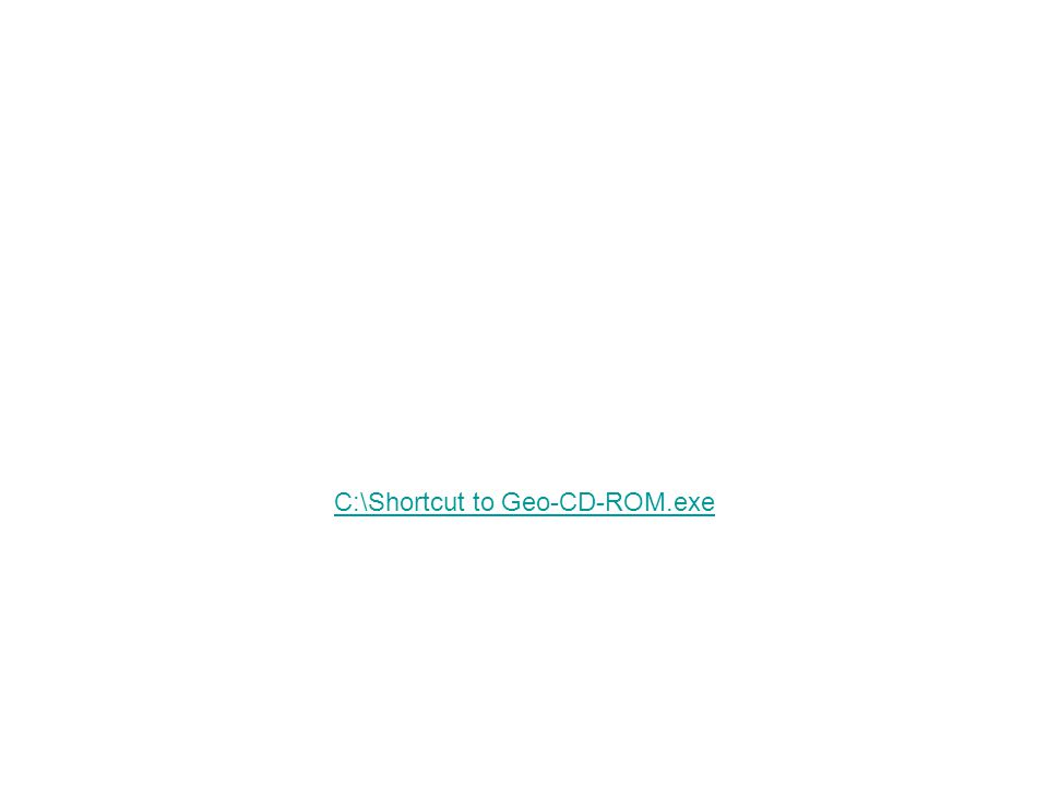C:\Shortcut to Geo-CD-ROM.exe