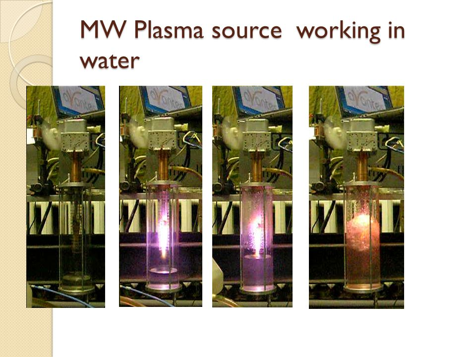 MW Plasma source working in water
