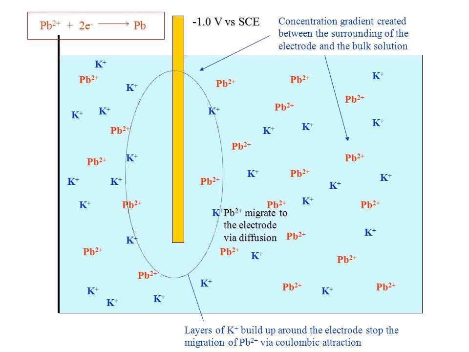 Pb 2+ K+K+ K+K+ K+K+ K+K+ K+K+ K+K+ K+K+ K+K+ K+K+ K+K+ K+K+ K+K+ K+K+ K+K+ K+K+ K+K+ K+K+ K+K+ K+K+ K+K+ -1.0 V vs SCE Pb 2+ + 2e - Pb K+K+ K+K+ K+K+