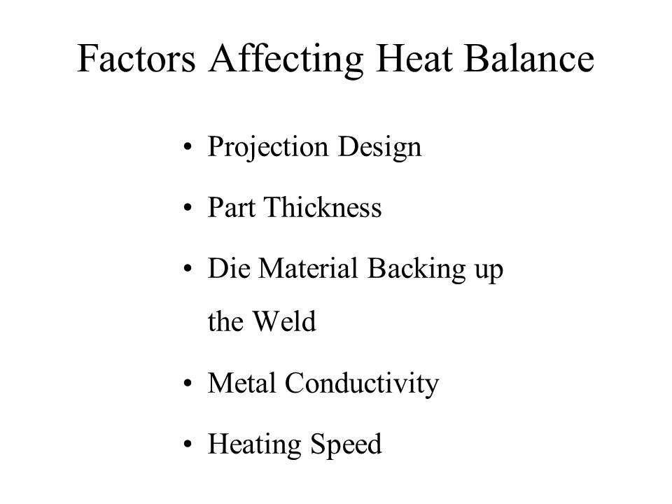 Effect of Electrode Material [Reference: Further studies in projection welding, Welding Journal Research Supplement, 28(1), p.15s-23s, Hess & Childs] RWMA Classification Group B, Class 12 RWMA Classification Group A, Class 2 RWMA Classification Group A, Class 3 Weld Time: 15 cycles 4000500060007000 Welding Current, Amps 0.20 0.10 0 Fused Zone Diameter, inches