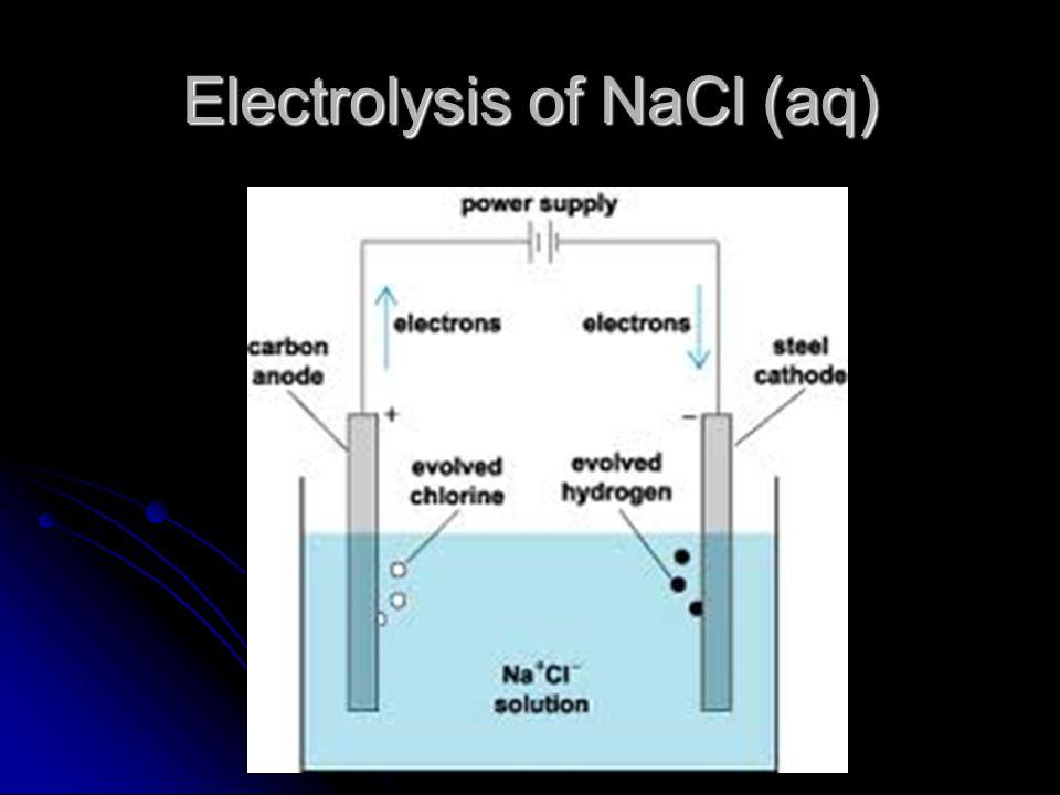Electrolysis of NaCl (aq)