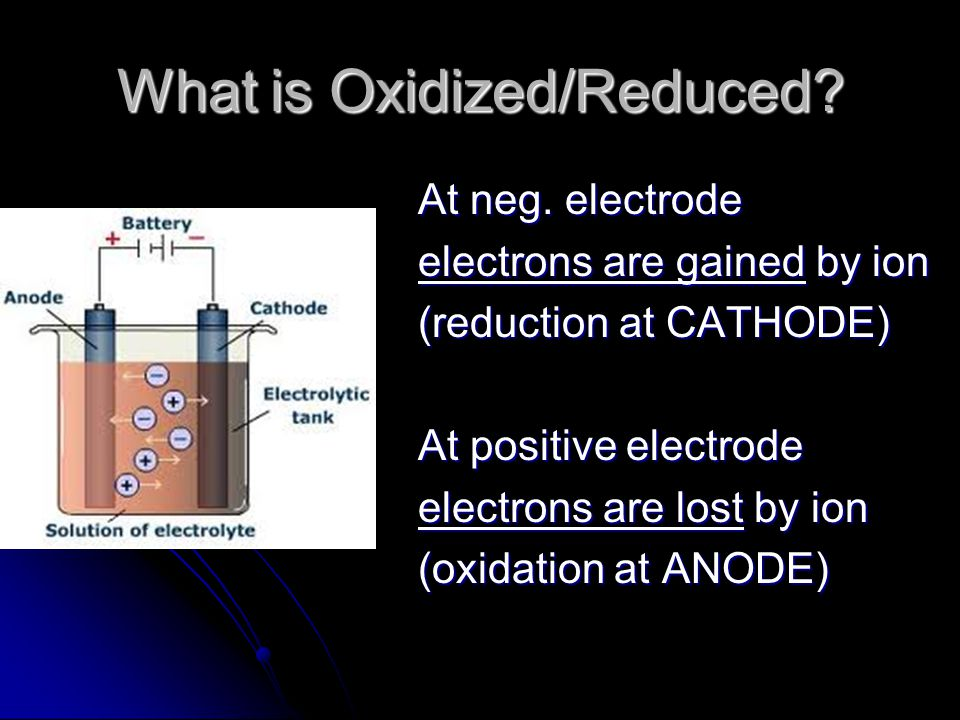 Electroplating Negative Electrode Negative Electrode Is the OBJECT TO BE PLATED Is the OBJECT TO BE PLATED so the positive metal ions would go towards it and be REDUCED.