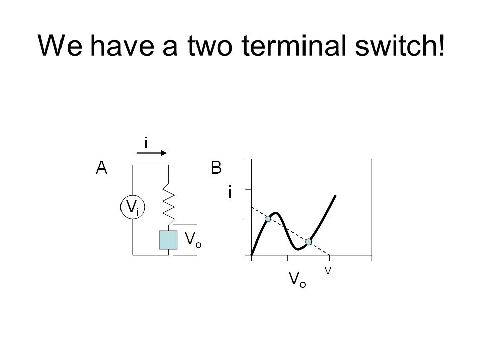 We have a two terminal switch!