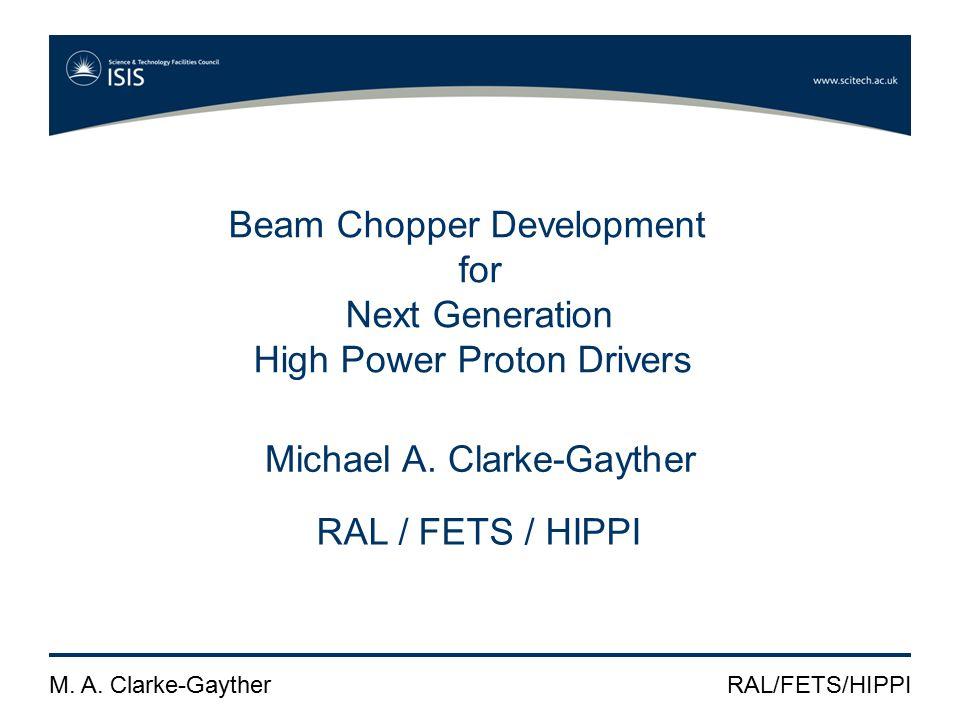 M. A. Clarke-GaytherRAL/FETS/HIPPI FPG development SPG waveform measurement / HTS 81-06-GSM-CF-HFB
