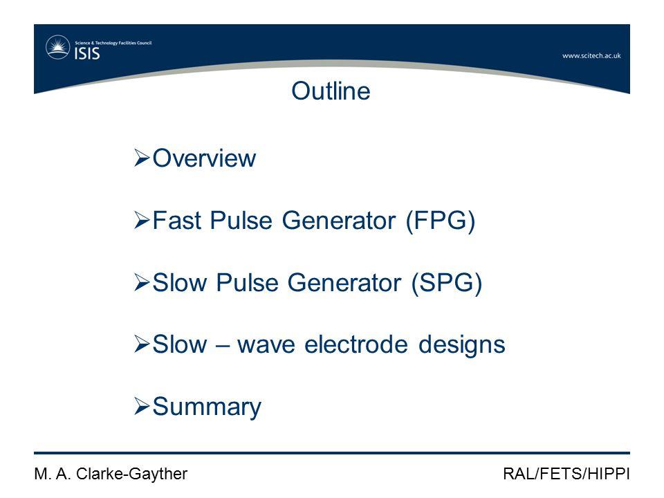 M.A. Clarke-GaytherRAL/FETS/HIPPI SPG development SPG waveforms at ± 4 kV peak & 50 ns / div.