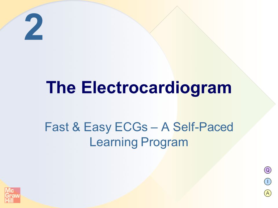 Q I A 2 Fast & Easy ECGs – A Self-Paced Learning Program The Electrocardiogram